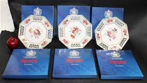 Set of 6 Spode Limited Edition octagonal  porcelain