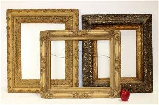 Lot of 3 gilt antique frames