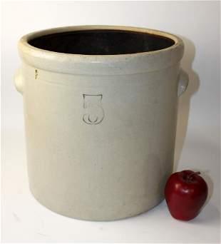 Antique American 5 gal stoneware crock