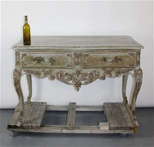 French Louis XV style painted console table
