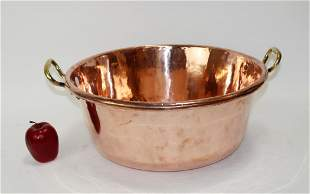French polished copper pot