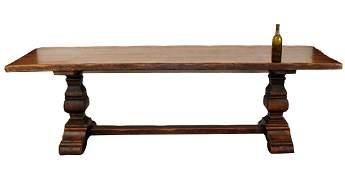 French trestle table in oak