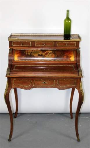 French Louis XV cylinder bonheur du jour desk