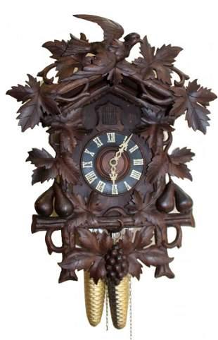 German Black Forest cuckoo clock with bird