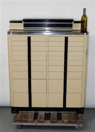 American Art Deco dental cabinet