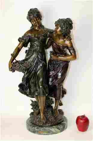 Bronze figural statue after Moreau