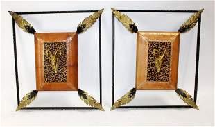 Maitland Smith iron frames with rams