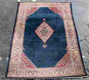 8ft10 x 5ft8 Persian Kirman wool rug