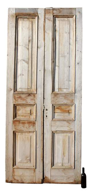 Pair of French Provincial pine doors