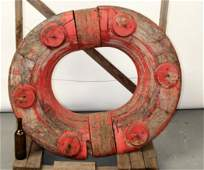 Antique wooden life ring mold