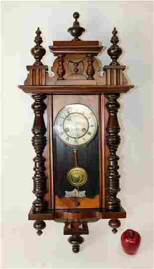 German Junghan's mahogany regulator wall clock