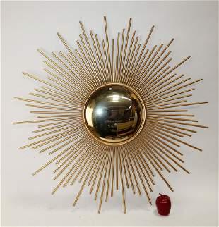 Metal painted sunburst style mirror
