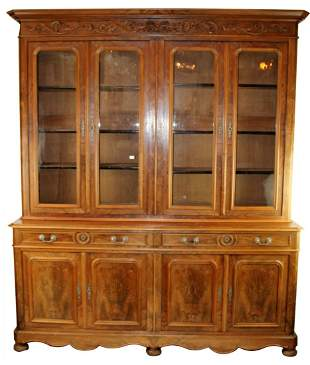 French Louis Philippe 4 door bookcase