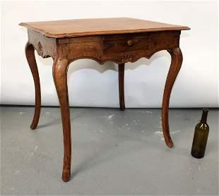 French Louis XV carved oak bureau plat desk