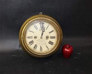 Antique EN Welch ship's bell wall clock