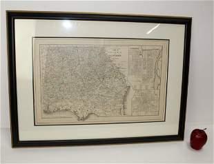 1884 map of Georgia & Alabama
