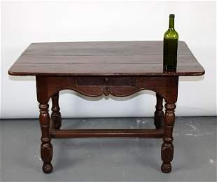 French Louis XIV bureau plat desk in oak