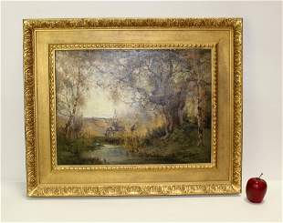 A.E Bailey oil on canvas landscape