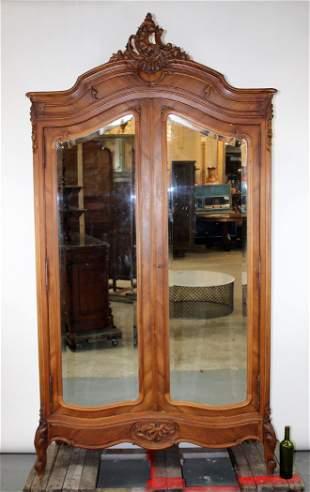 French Louis XV 2 door armoire
