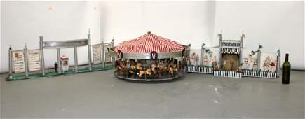 Antique department store window display carousel