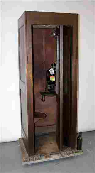 American 1950 Bell System wooden phone booth