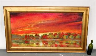 Ford Smith original oil on canvas landscape painting