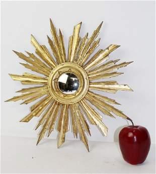 French giltwood sunburst mirror