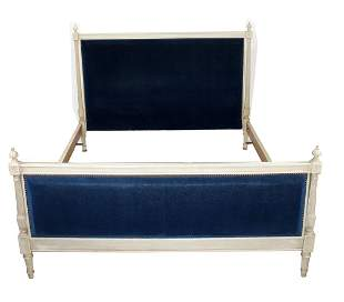 French Louis XVI style painted bed