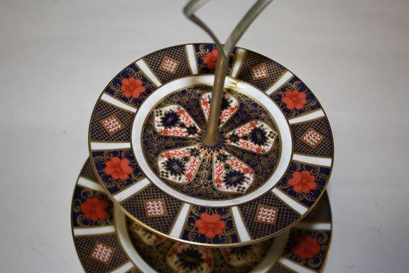 4: Royal Daulton Old Imari 2 tiered candy dish