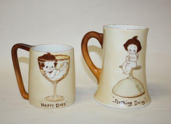 6: Lot of 2 porcelain mugs- Imperial Austria 1913