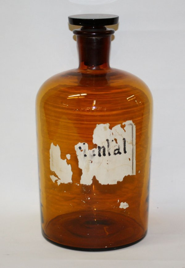 7A: Spanish apothecary bottle with stopper