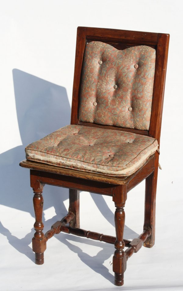 19: Antique child's chair, wood pegged