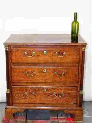 Antique English Georgian chest in oak