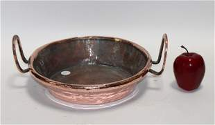 Antique French polished copper torte pan