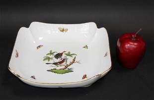 Herend Rothschild Bird square platter