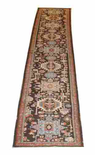 "3' x 14' 8"" Persian wool runner"