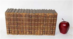 Lot of 18 antique French leather bound books
