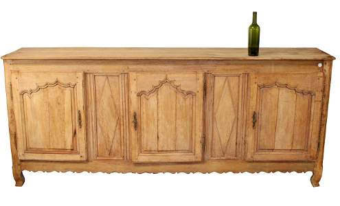 French early 19th c oak & fruitwood sideboard