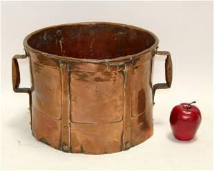 Antique French copper grain measure