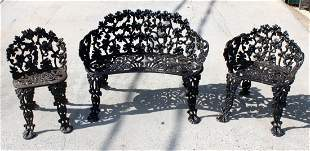 American cast iron 3 piece garden furniture