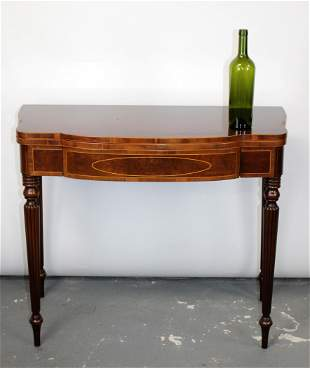 Inlaid mahogany Sheraton style console