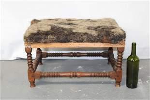 French Louis XIV  oak foot stool