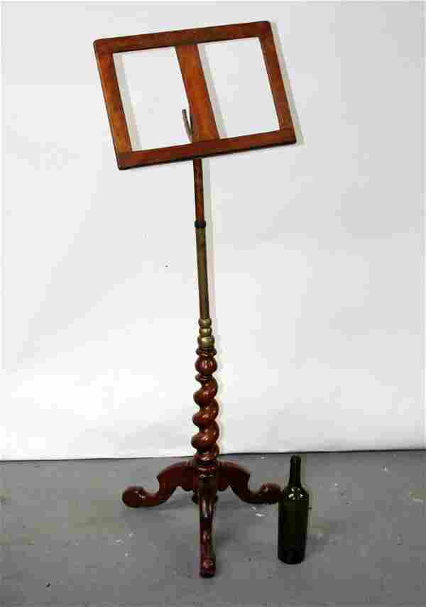 English barley twist music stand or lecturn in oak