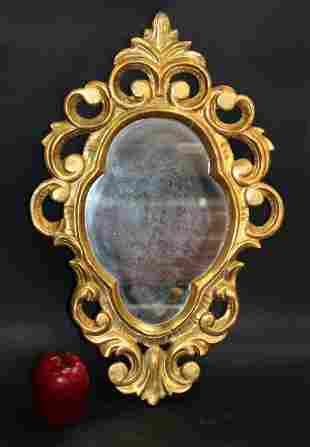 French giltwood shield form mirror
