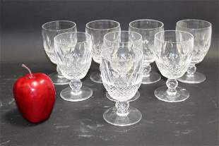 Set of 8 Waterford Colleen large claret glasses