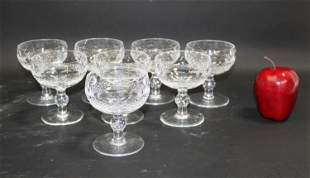 Set of 8 Waterford Colleen champagne coupes