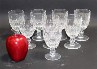 Set of 8 Waterford Colleen claret wine glasses