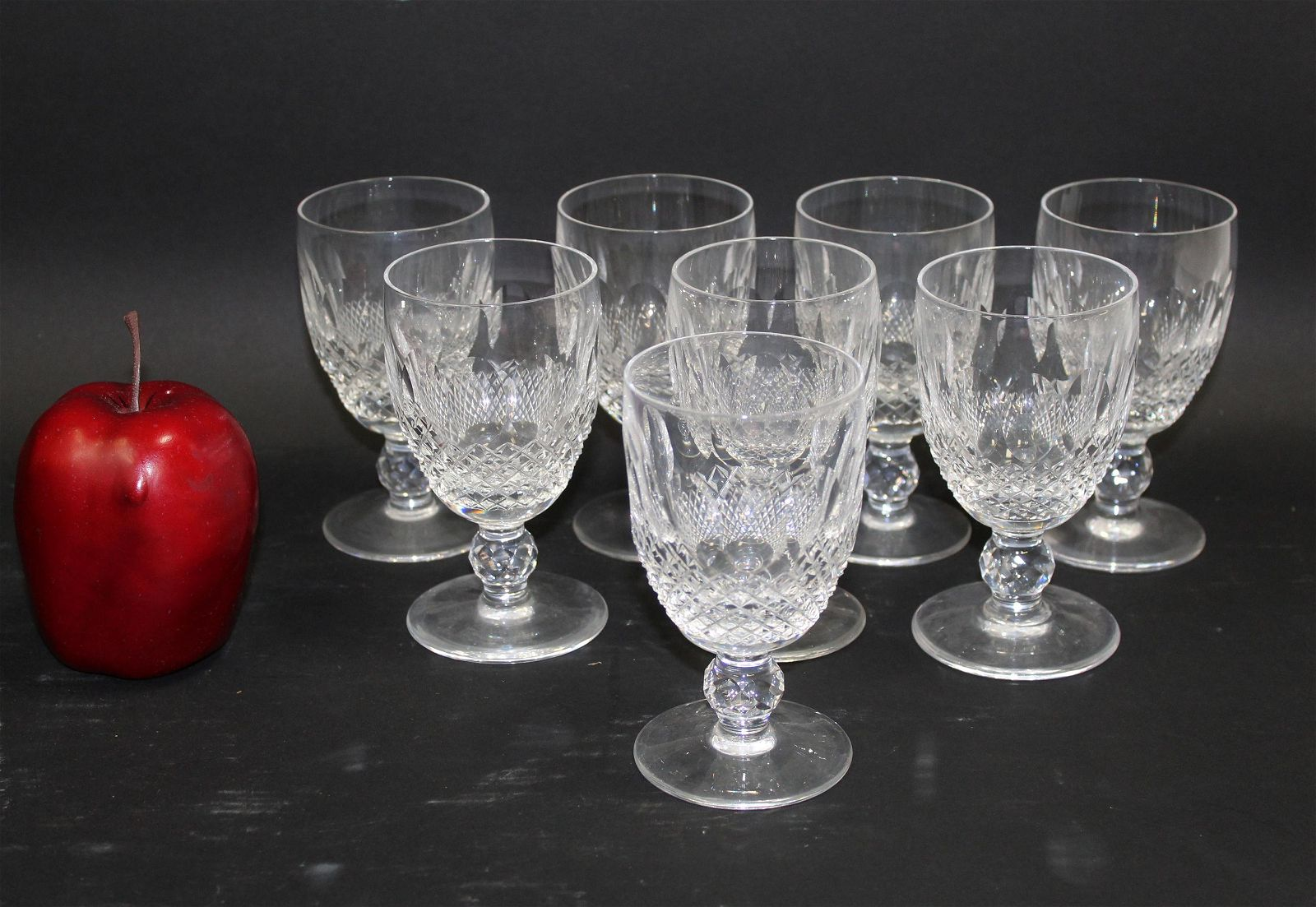 Set of 6 Waterford Colleen short stem sherry glasses