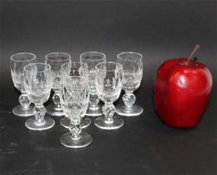 Set of 8 Waterford Colleen short stem cordial glasses