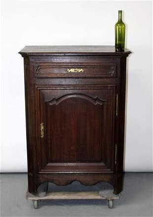French Provincial oak confiturier cabinet